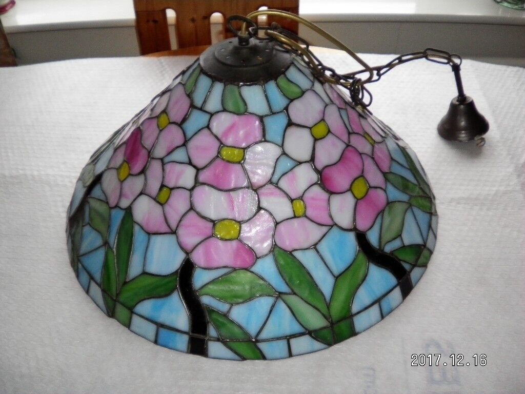 Tiffany Style Ceiling Lamp Shade With Original Makers Seal