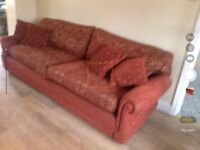 Two sofas. One converts to sofa bed