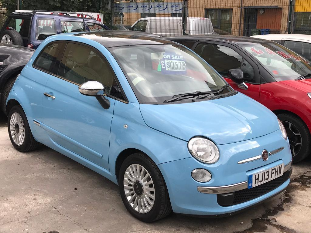 2013 1 lady doctor owner fiat 500 lounge turbo free road tax and mot Feb 2018