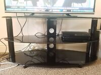 TV stand black glass - very good condition
