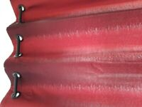 red silk feel eyelet lined curtain pair