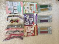 Joblot of crosstitch booklets with matching threads