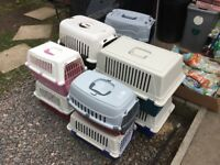 Lots of cat/puppy/small pet carriers