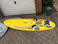 BIC TECHNO 2 160 SURFBOARD GREAT CONDITION & VARIOUS RIGGING, SAILS, BOOMS, MASTS etc