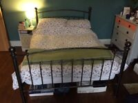 Metal bed frame - double