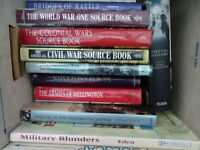 Bundle of eleven (11) books on military history, (mostly) pre-1918