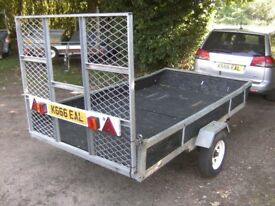 GALVANISED 9X5 GOODS / TRANSPORTER TRAILER WITH RAMP-TAIL (UNBRAKED)..