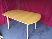 PINE EFFECT EXTENDABLE DINING TABLE,CAN DELIVER