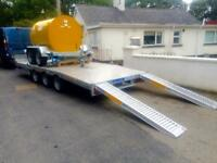 Trailer car transporter machinery Lowloader trailer 16x6,6 plant trailer triple axle trailer