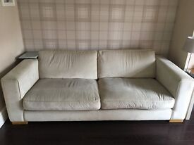 3 seater sofa with matching cuddler chair