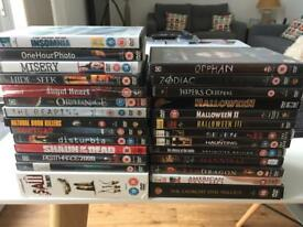 MASSIVE COLLECTION OF HORROR/THRILLER DVD'S