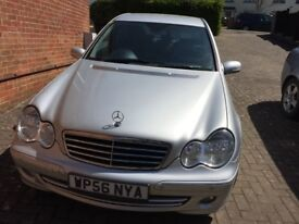 Mercedes c220 2.2cdi auto 2007 56 avantgarde se silver + paddles and sat nav
