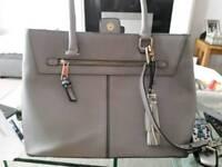 Grey & Snakeskin handbag
