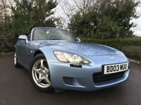 2003 (03) Honda S2000 2.0 Roadster 76,000 MILES 2 OWNERS IMMACULATE FSH JUST SERVICED 4 NEW TYRES