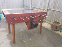 Antique Original Good Quality solid Vintage Coin Operated Bar Table Football this is the real deal