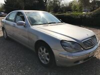 Mercedes S320 Limo 3199cc Petrol Automatic 4 door saloon 03 Plate 20/05/2003 Silver