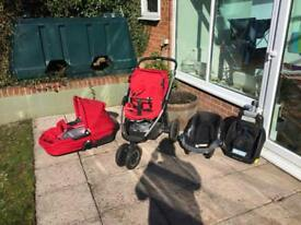 Maxi cosi mura 3 complete pushchair car chair cot travel set