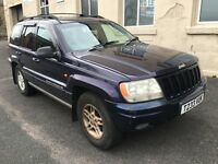 1999 JEEP GRAND CHEROKEE LIMITED EDITION 4.7 V8 AUTO 4X4 LPG LONG MOT