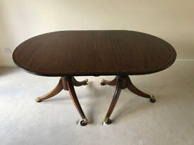 Mahogany Regency Style Extending Dining Table for sale