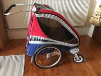 CorsaireXL Chariot bike trailer + jogging wheel, stroller wheels, hitch and baby carrier included