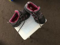 Karrimor ladies walking shoes size 4 grey with pink