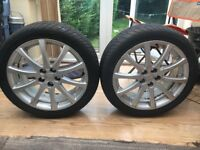 Toyota Tyres with Alloy Rims for sale - £12 each, £40 picked together