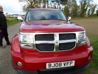2008 dodge nitro usa,mot dec 2017,alloy wheels,service history,high spec music system,leather seats