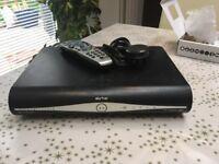 Sky Plus HD Box, remote control, power cable.