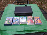 VHS VCR Video Player (Matsui VP9409) and 5 children's tapes. FREE LOCAL DELIVERY
