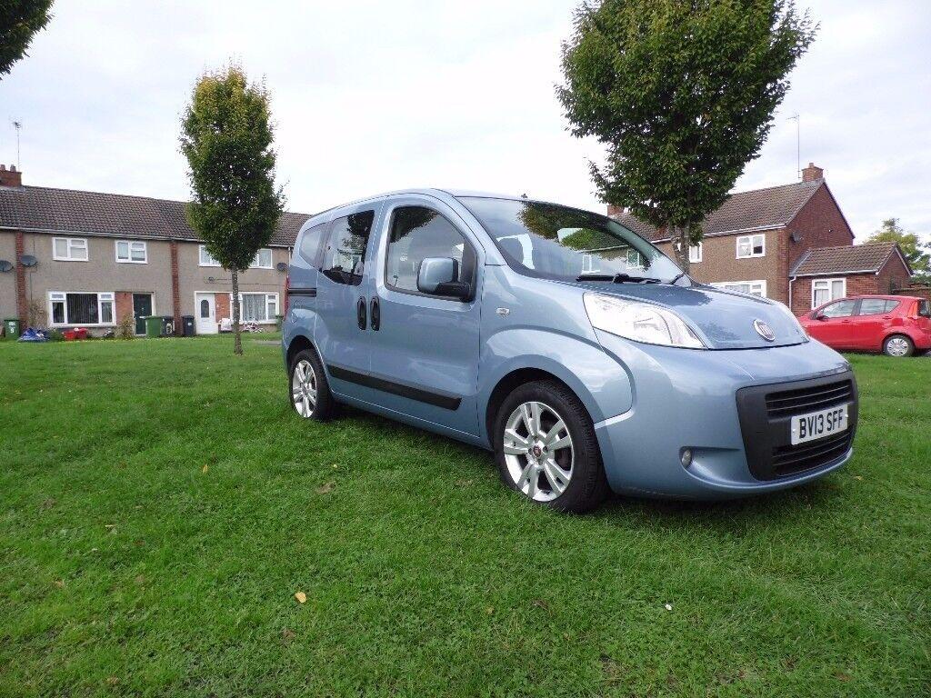 Fiat Qubo 1.3l Diesel 2013 96k MOT FSH HPi Blue 2 Keys 78.5mpg £20 Tax Peugeot Bipper Citroen Nemo