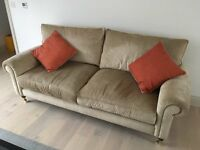 Laura Ashley Kingston large sofa and 2 armchairs in Villandry Champagne fabric