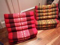 2 X Thai Triangle Fold Out Mattress Cushion Day Bed THREE FOLDS