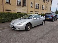 Silver Toyota Celica. LOW MILEAGE, 2 owners.
