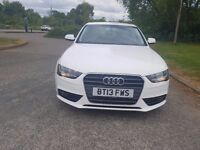 Audi A4 se technik 1.9 TDI 4 door saloon 84200 miles white stunning car for sale 9500 pounds.