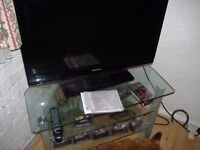 glass/chrome tv stand upto 55 inch