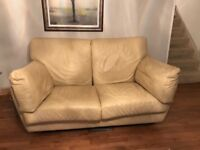 Cream leather sofas for sale - Kesterport quality brand (large & small)