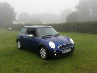 02 REG MINI MINI ONE 1.6 PETROL BLUE 3DR OUTSTANDING 2 KEYS MOTED VERY CHEAP CAR @BARGAIN CARS L@@K