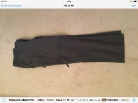"North Face Conversion Trousers. Charcoal. 36"" waist. As new."