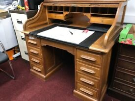 Antique Oak Roll Top Desk Edwardian probably circa 1900 Must be seen, can deliver
