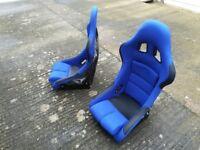 Bucket seats pair racing rally drift