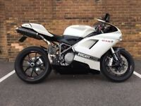 Excellent Condition Ducati 848 White + lots of upgrades.