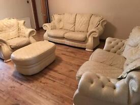 Italian chesterfield leather Sofa