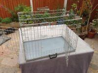 Medium double door dog crate cage
