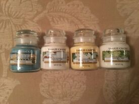 Yankee Candle Bundle Set Job Lot 4x Small Jars Viva Havana Shea Butter Linden Tree Tobacco Flower