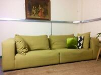 Habitat Style 4 seater modular sofa in mustard wool fabric