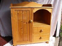 Solid pine changing unit with storage Mother Care 85cm x 50cm