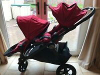 Double Pram Baby Jogger City Select + Car Seat