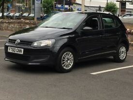 2010 VW POLO 1.2 S * 5 DOOR * BLACK * FULL HISTORY * ALLOYS * PART EX * FINANCE * DELIVERY *