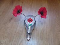 Poppy Crystal Deer Skull Ornament Hand Crystal Encrusted Beautiful Decor