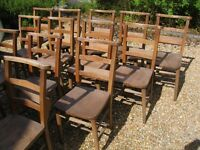 OLD CHAPEL CHAIRS IN GOOD CONDITION. Delivery Poss. Also Church pews / benches.